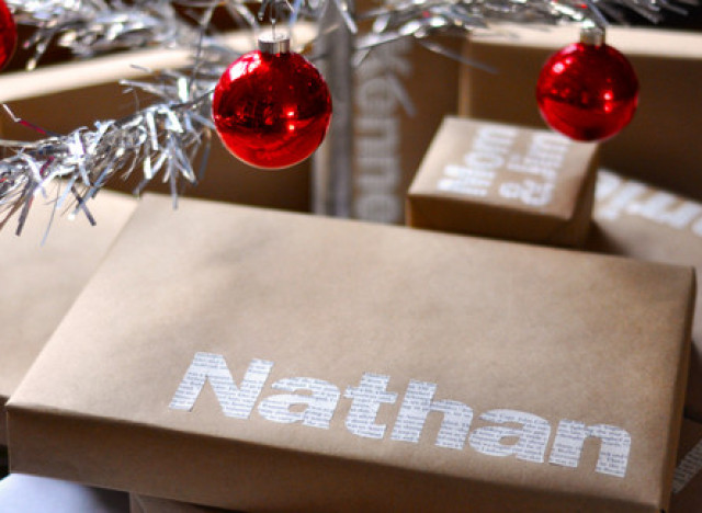 homemade gift ideas typographic wrapping paper huffpost