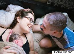 35 superbes photos de pères assistant à la naissance de leur enfant