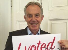 Tony Blair n'aurait vraiment pas dû publier cette photo après avoir voté