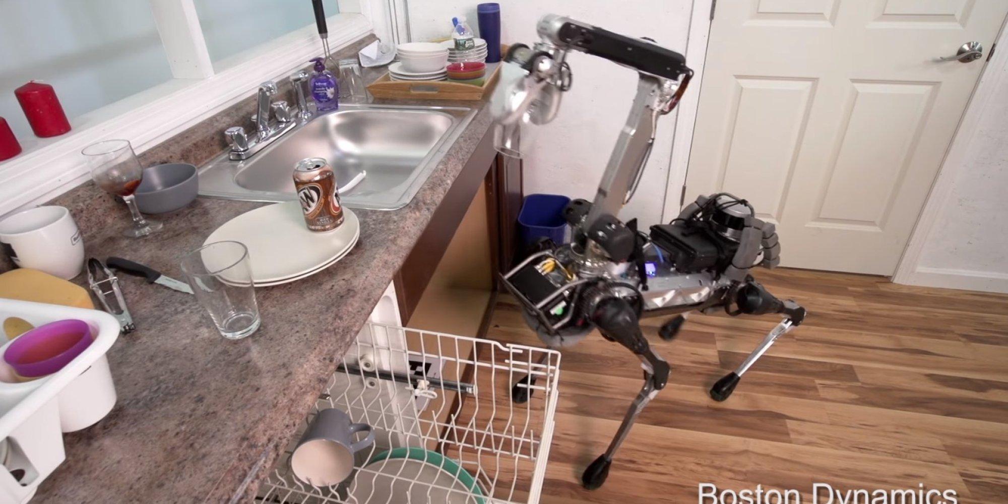 Google a un nouveau robot qui remplit le lave vaisselle et glisse sur des pea - Robot qui chauffe et mixe ...