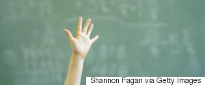 KIDS RAISING HANDS SCHOOL