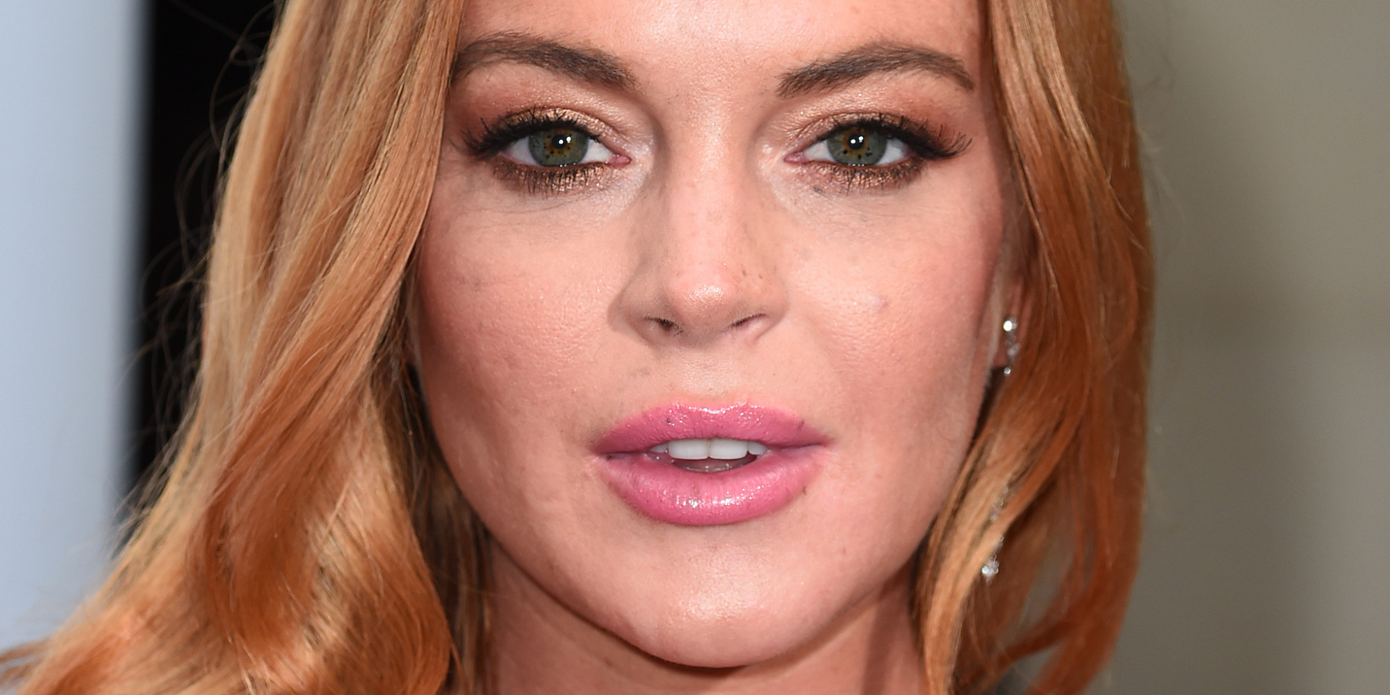 Lindsay Lohan Stuns In Pink For Red Carpet Debut With Rumored Fiancé ... Lindsay Lohan