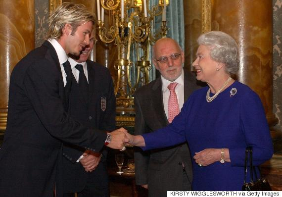 david beckham queen elizabeth