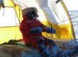 El Trineo de Viento, dentro de una nube en el hielo de Groenlandia