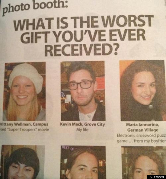 'Worst Gift Ever Received' Poll Yields Depressing Result ...
