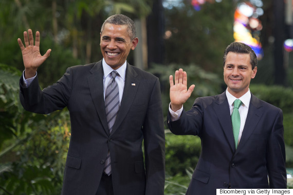 barack obama enrique pena nieto three amigos