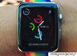 애플이 LGBT 퍼레이드를 기념하는 방법(사진)