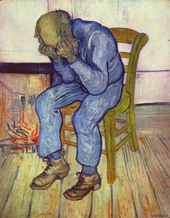 anciano afligido
