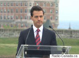 Le président du Mexique en visite à Québec