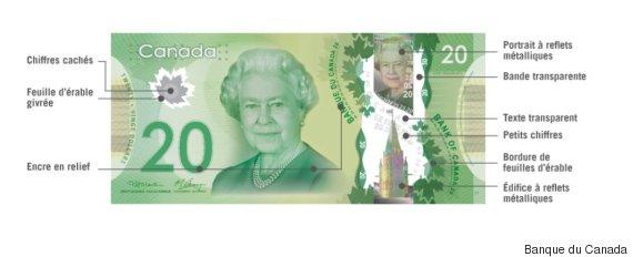 billet canadien polymère