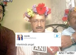 Kejriwal Just Wore A Tiara Made Of Flowers And Internet Is Losing  It