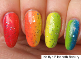 Show Your Pride With This Rainbow Ombré Nail Art