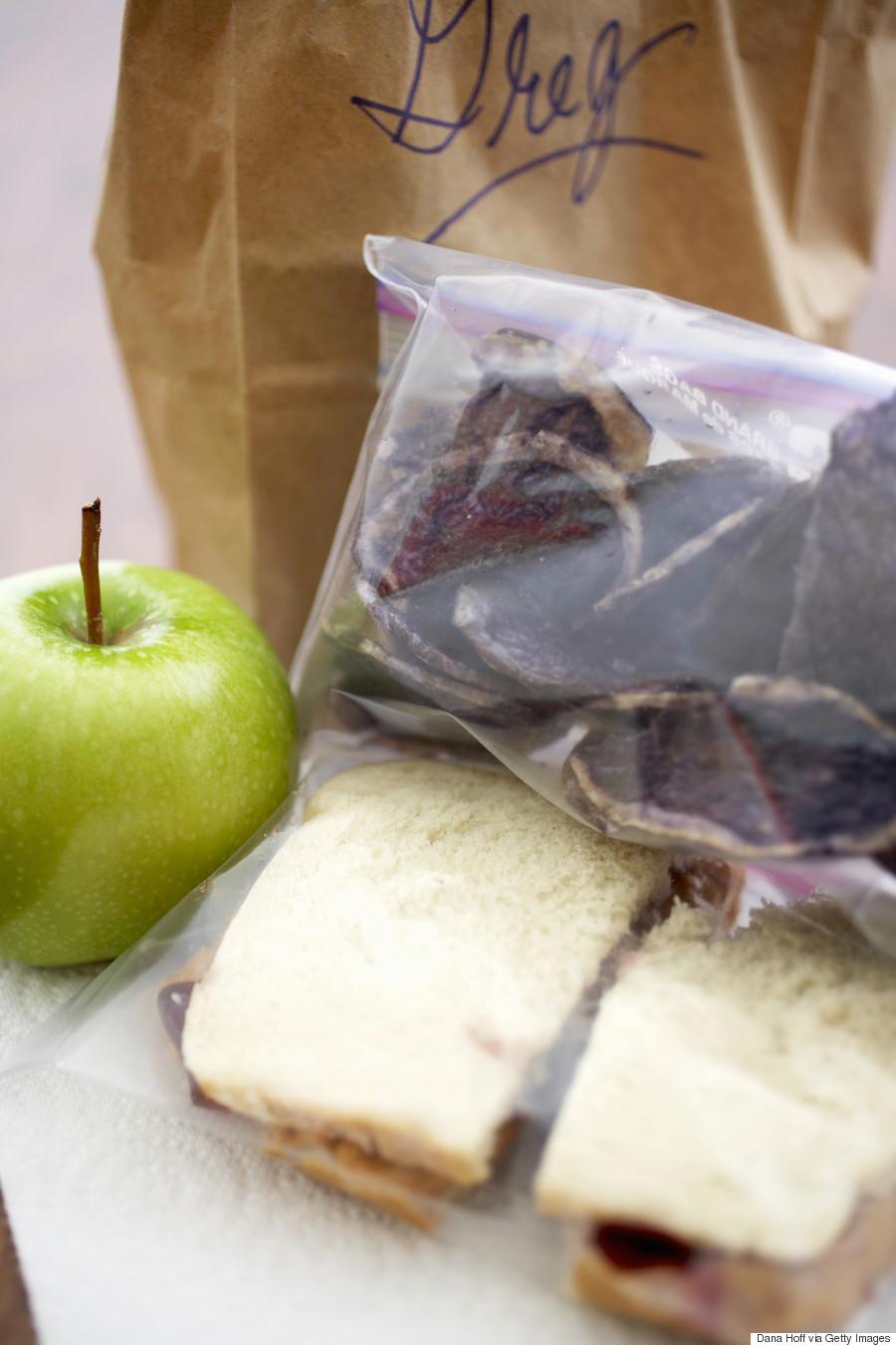 snacks in ziplock bag
