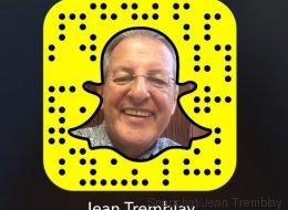 Jean Tremblay est maintenant sur Snapchat