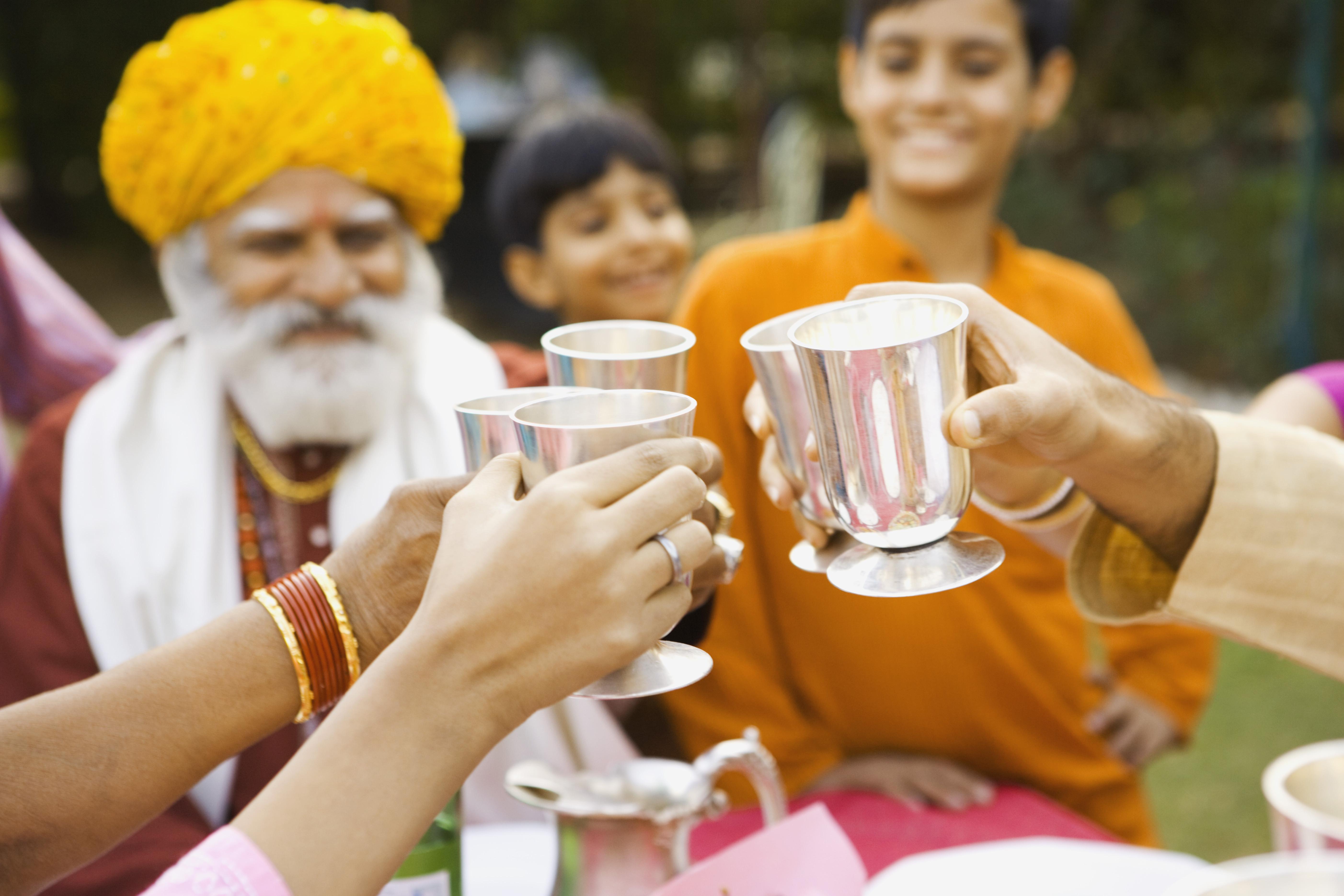 india drinks toast