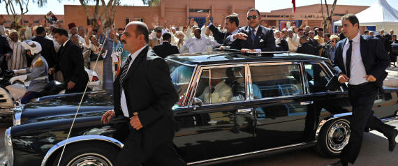 MOROCCAN KINGS MOTORCADE