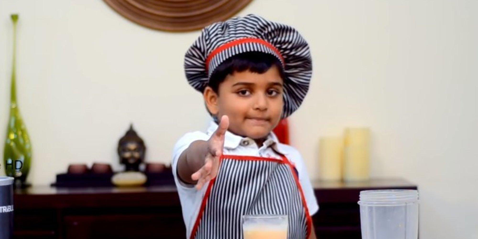 Ce youtubeur de 6 ans cartonne avec ses recettes de cuisine for Bureau youtubeur