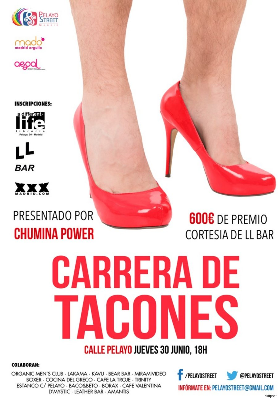 affiche course talons gay pride madrid