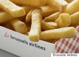 Des frites et des gaufres dans les avions belges