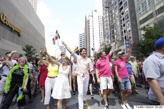 justin trudeau toronto pride parade