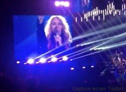 Céline Dion donne le pointage de la France en plein concert (VIDÉO)