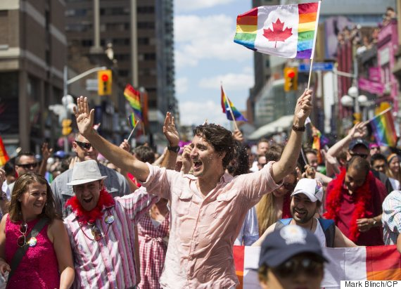 Canadian Prime Minister marches in Pride parade