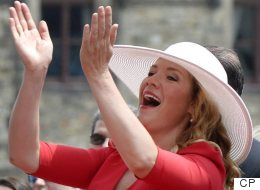 Sophie Grégoire Is A 'Lady In Red' For Canada Day Celebrations