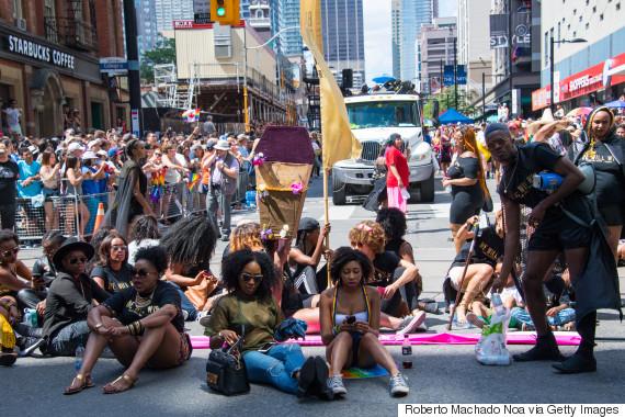 black lives matter toronto pride protest