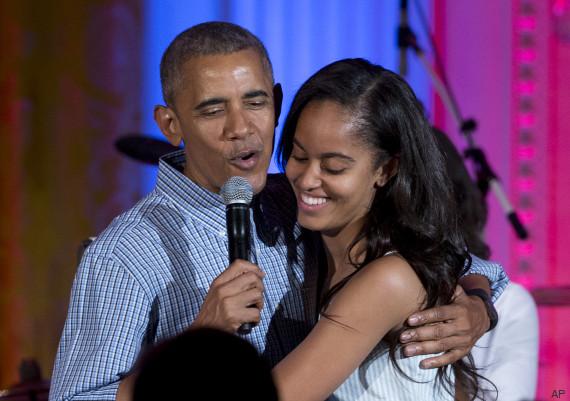 barack obama malia obama joyeux anniversaire fille