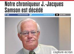 Le chroniqueur J.-Jacques Samson est décédé (TWITTER)
