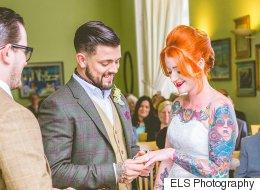23 superbes photos de mariées qui ont su mettre leurs tatouages en valeur