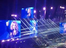 Céline annonce la pénalité de Griezmann en plein concert