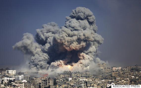 gaza isreal 2014 july 29 explosion
