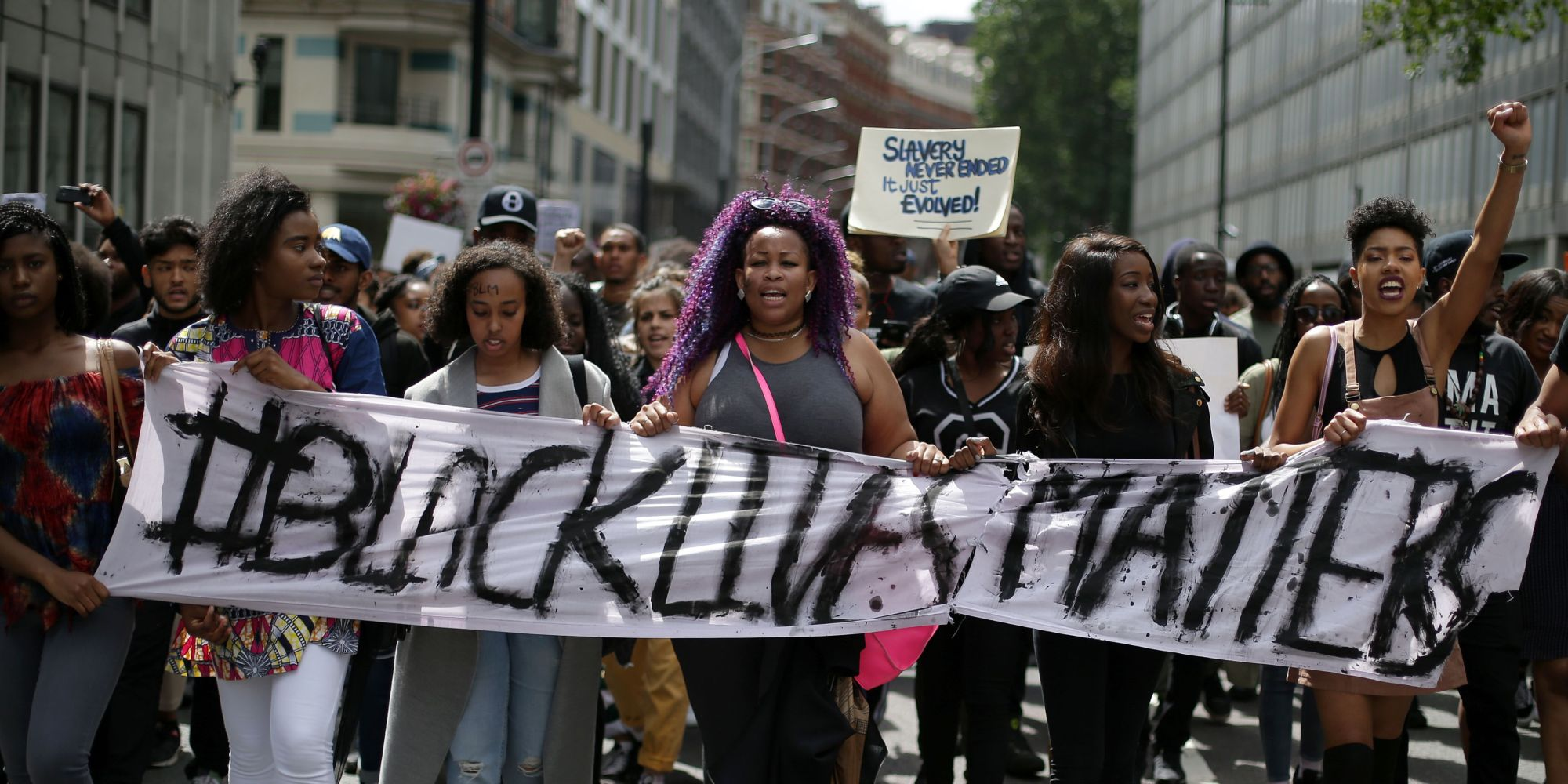 """the black lives matter movements fight against racism and violence of the police Black lives matter,"""" the rallying cry of the new movement against racist police   which protested police violence against indigenous people in the united states  low-wage workers active in the fight for 15 campaign were present at some of."""