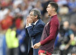 Quand Ronaldo stresse, il frappe le genou d'Adrien Silva (VIDÉO)