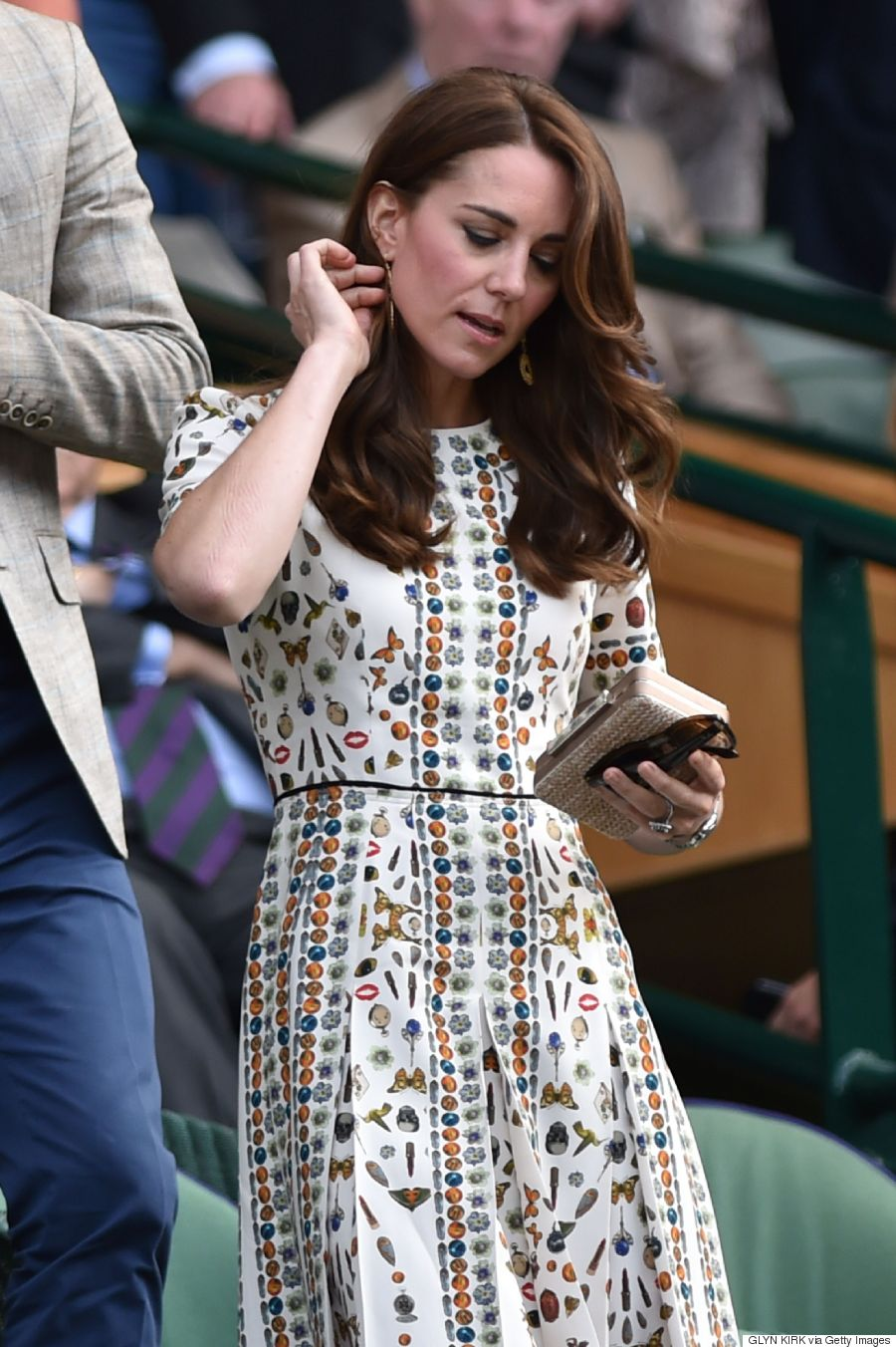 kate middleton wears intricately printed alexander mcqueen