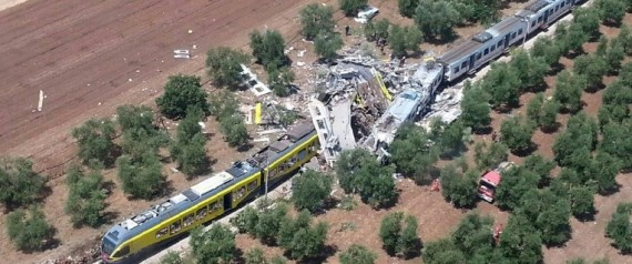 COLLISION DE TRAINS ITALIE