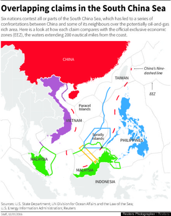 south china sea map