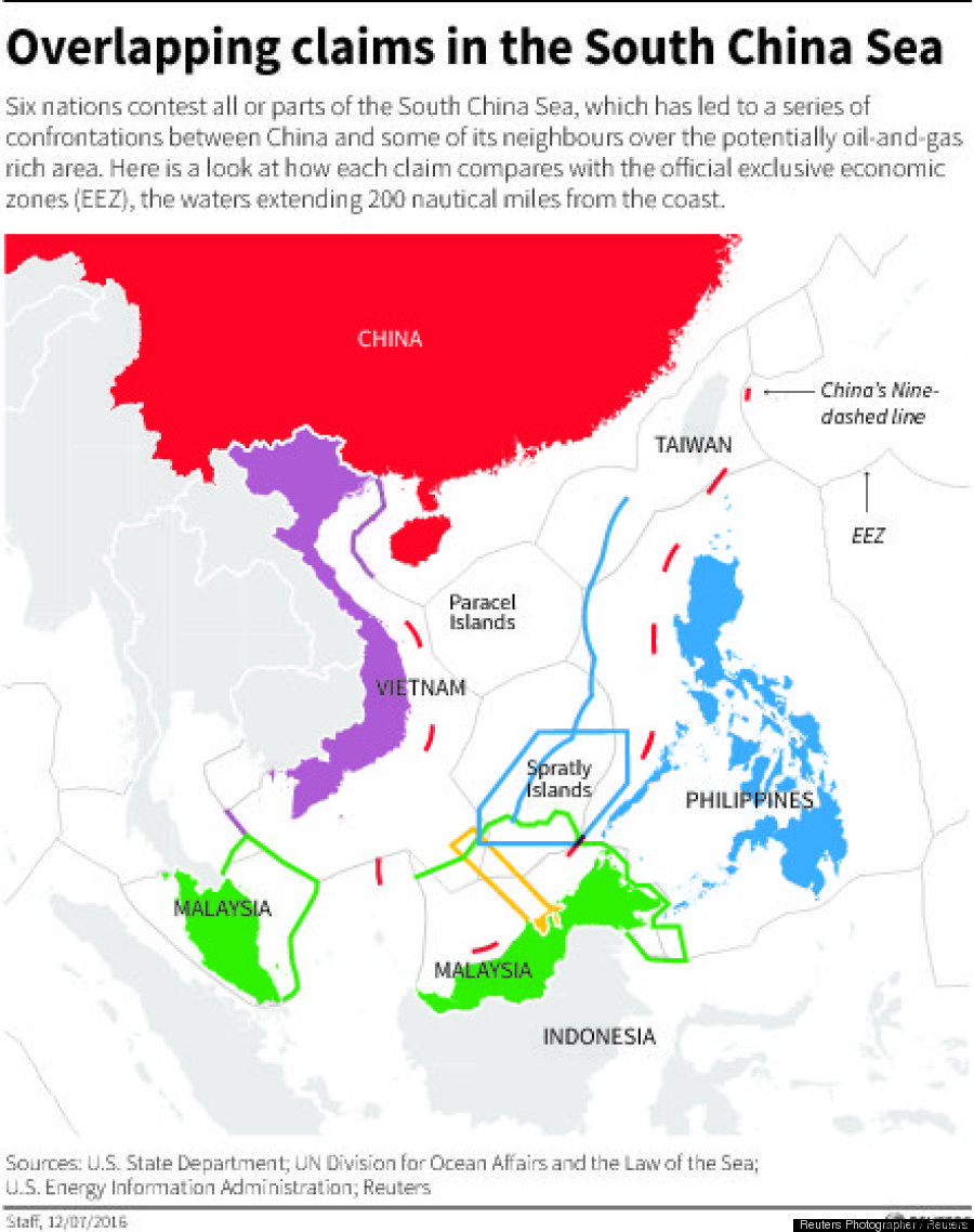 Vietnam careful not jubilant after south china sea ruling against south china sea map gumiabroncs Images