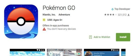 POKEMON GO PLAYSTORE