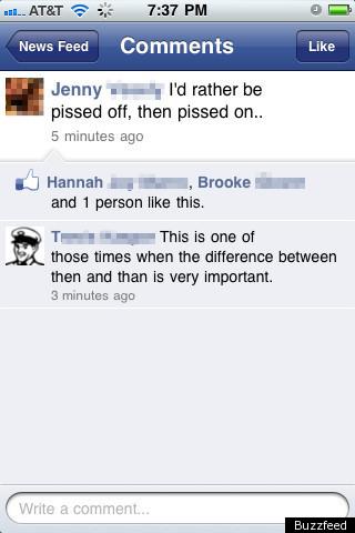 Funny Facebook Status Grammar Matters Everyone Picture Huffpost