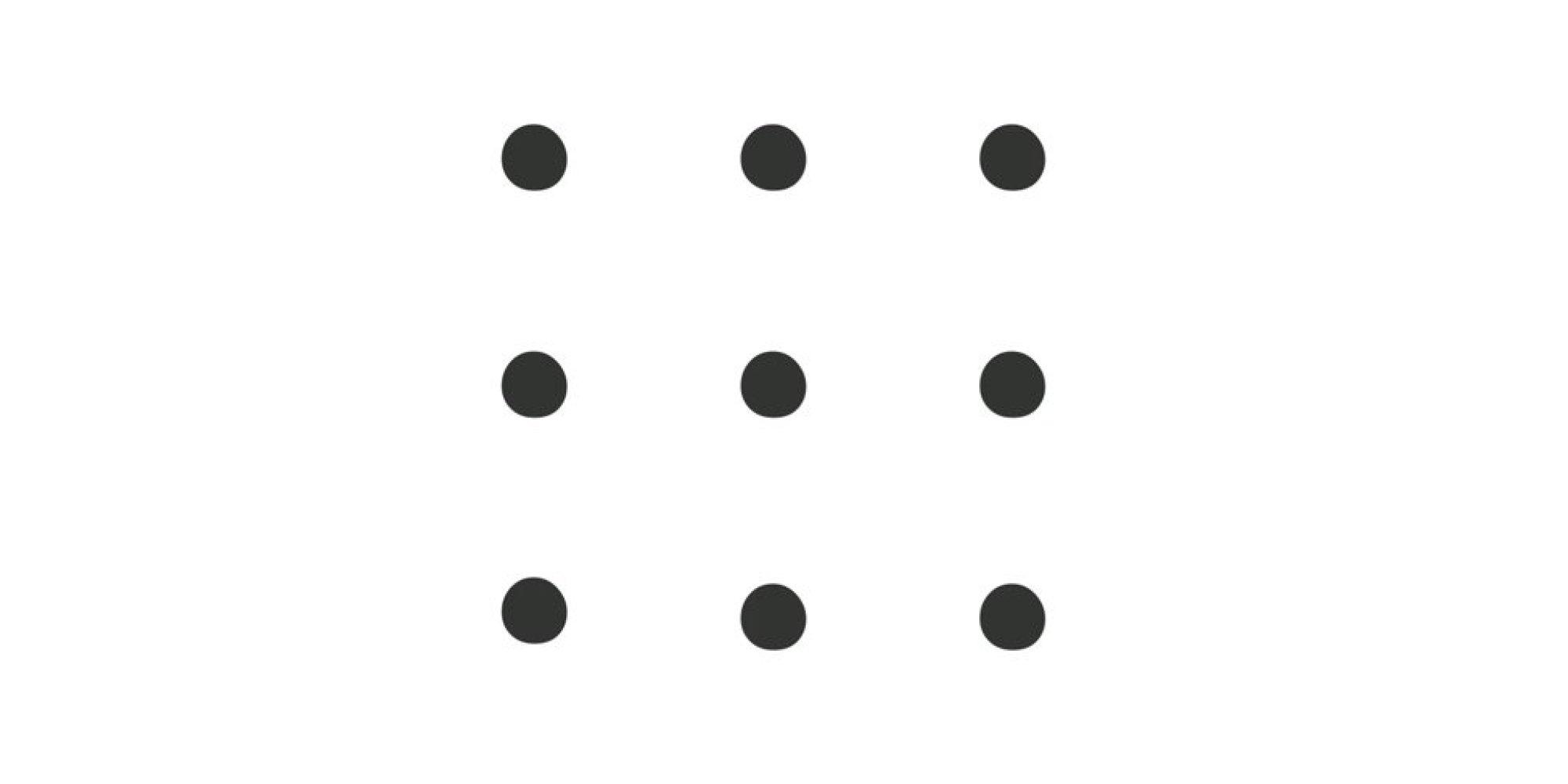 kannst du diese 9 punkte mit vier strichen verbinden ohne abzusetzen. Black Bedroom Furniture Sets. Home Design Ideas