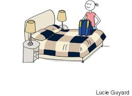 Ce ne sont pas que les filles qui ont du mal à faire leur valise
