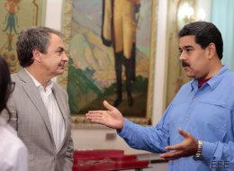 Rodríguez Zapatero se reúne con Maduro en el palacio de Miraflores