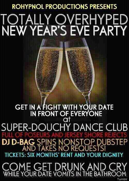 Literal New Years Eve Invite Tells It Like Is