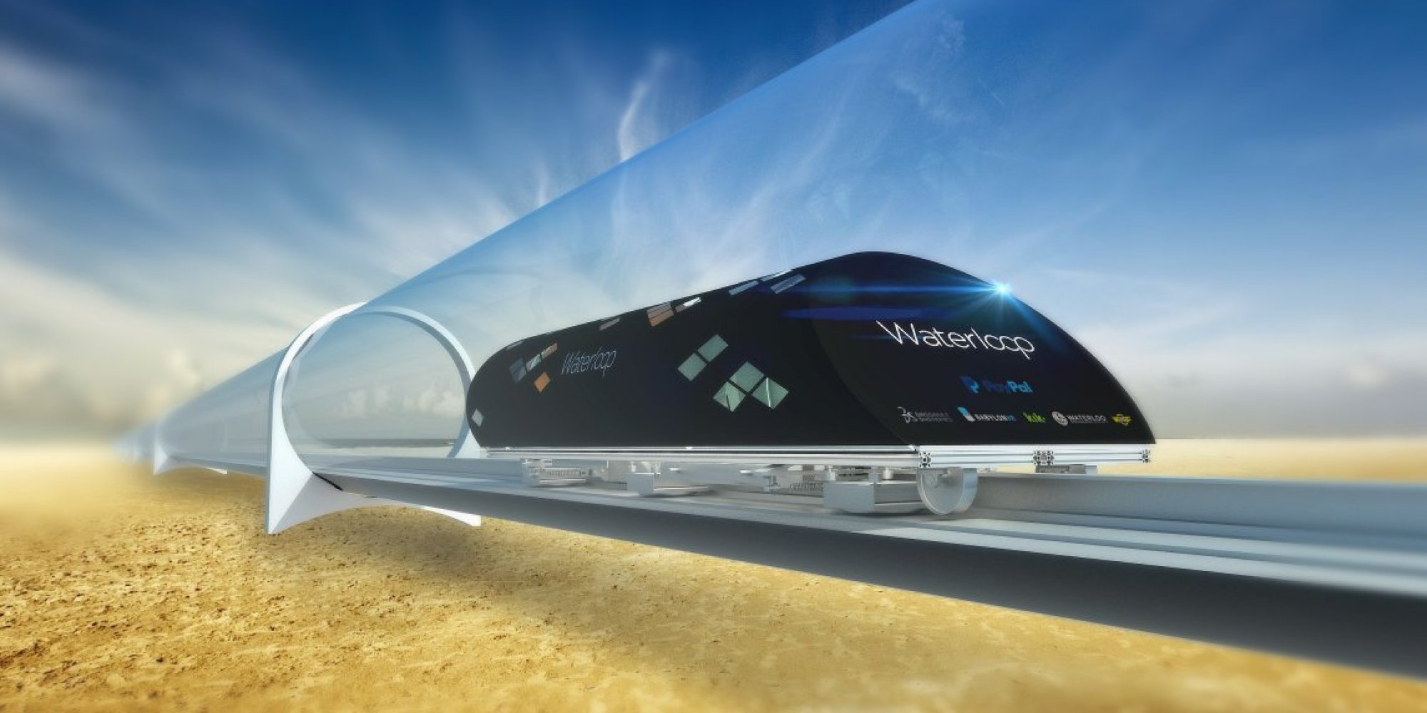 Hyperloop pod design by waterloo students to be tested for Hyperloop italia