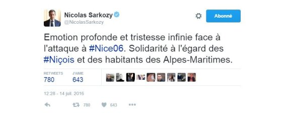 REACTION SARKOZY NICE