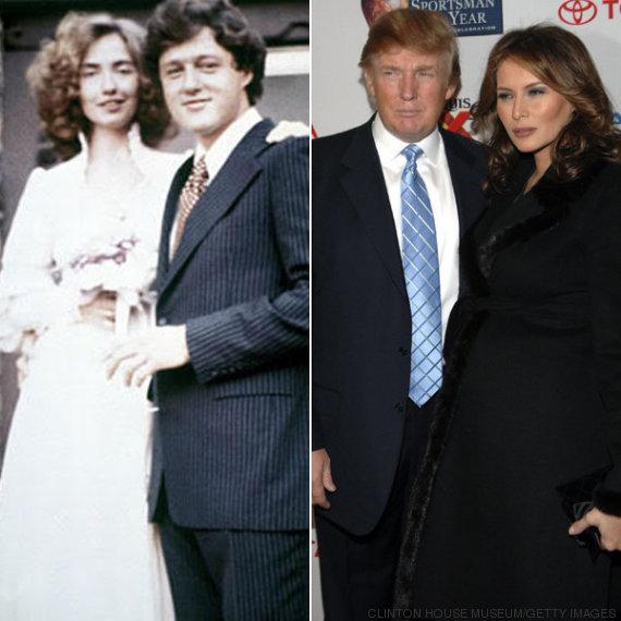 clinton trump couples