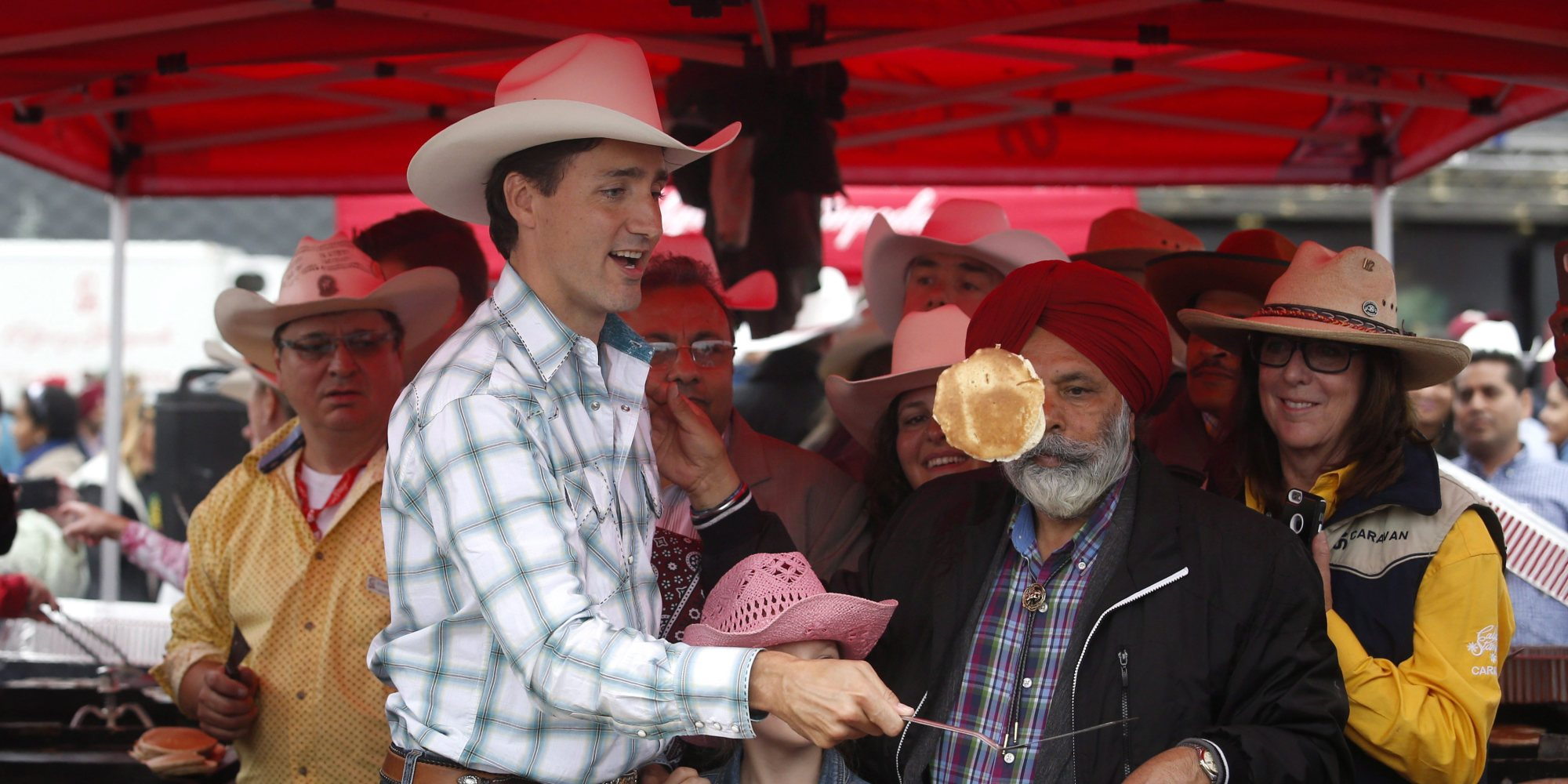 Justin Trudeau Visits Calgary Stampede