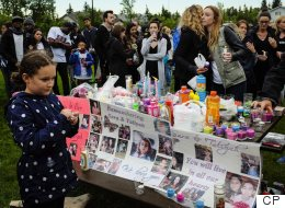 Hundreds Gather At Vigil For Slain Alberta Mother And Daughter